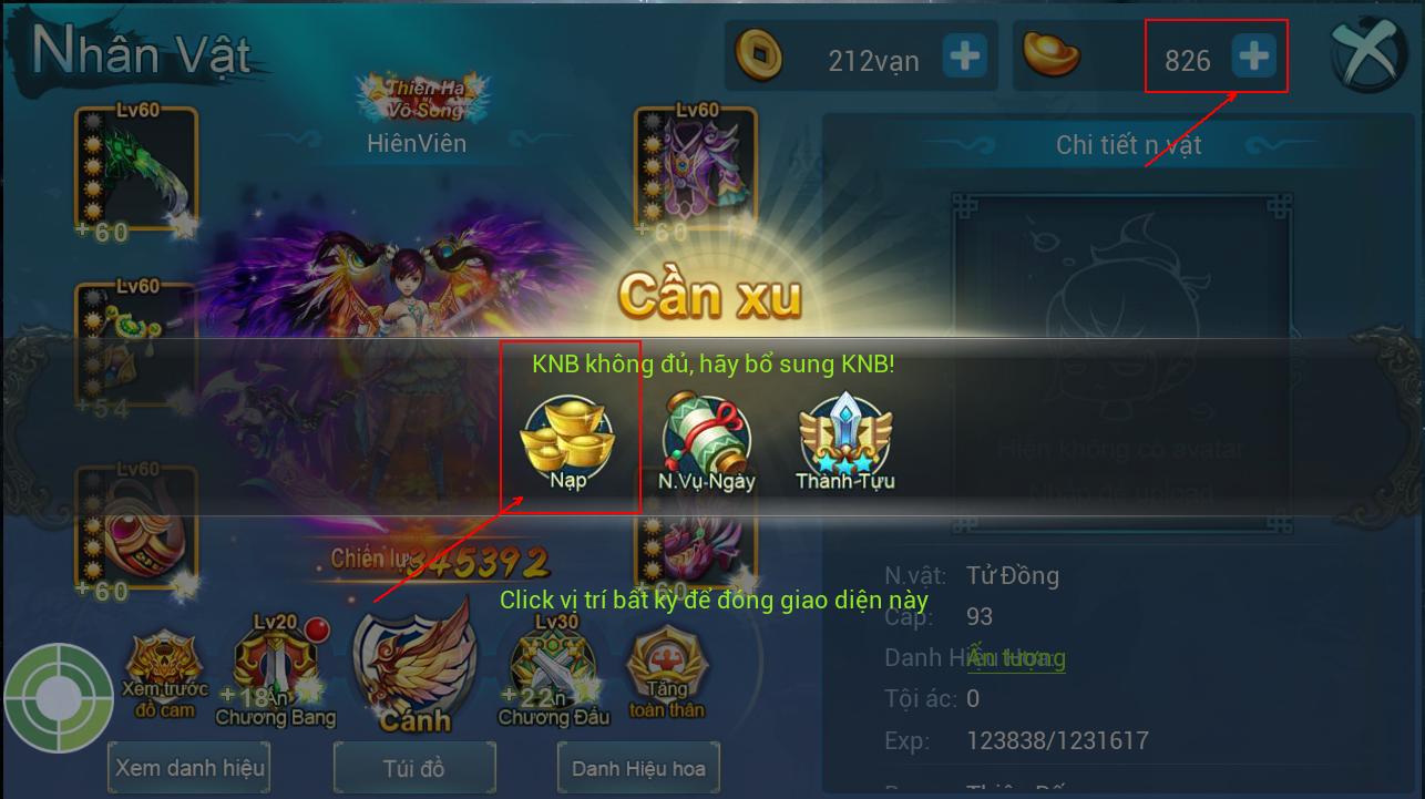 [Hướng Dẫn] Nạp KNB trong game - 2