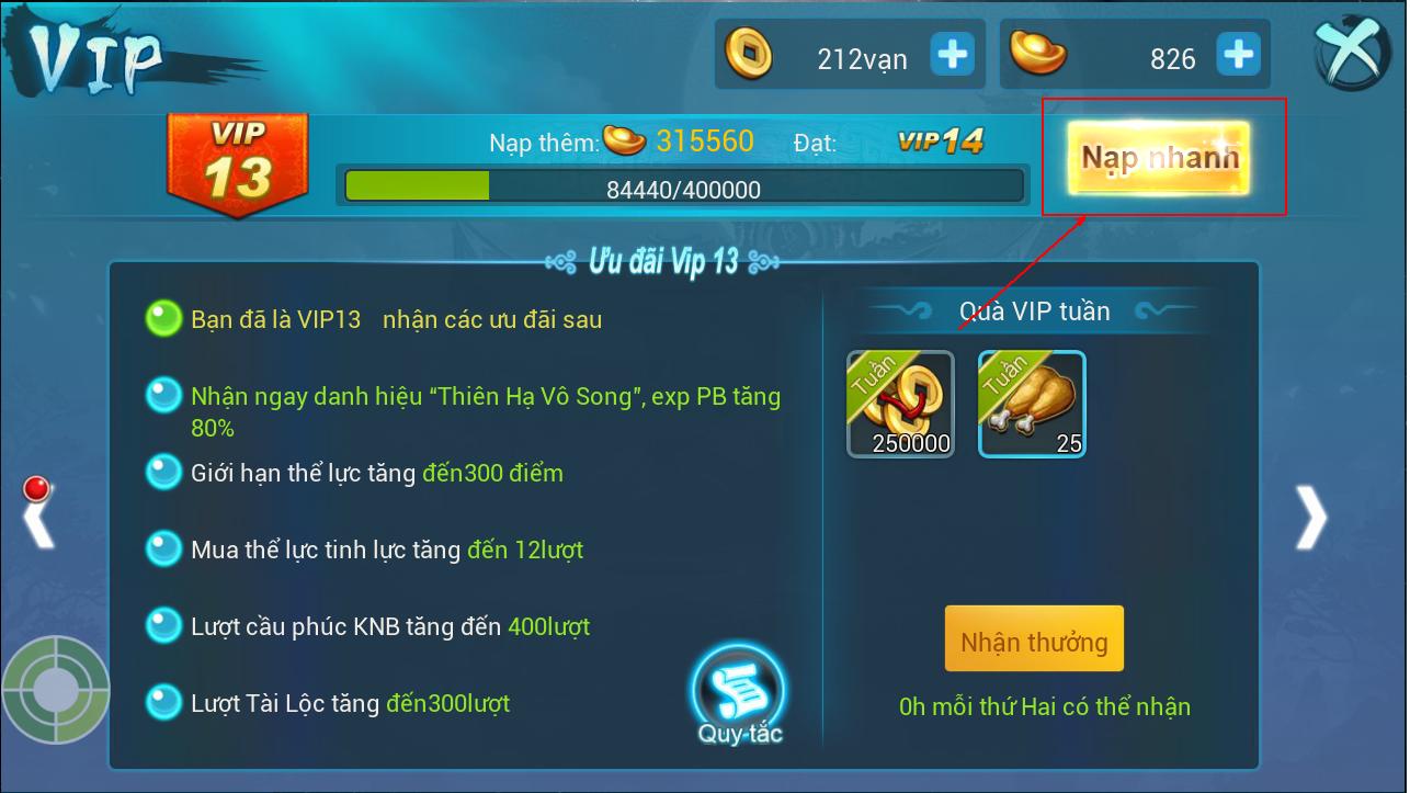 [Hướng Dẫn] Nạp KNB trong game - 3