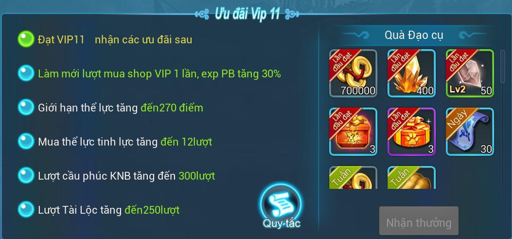[Hướng Dẫn] Đặc quyền VIP trong game. - 11