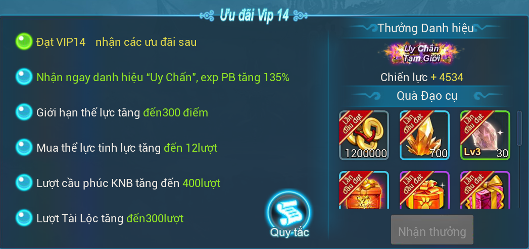 [Hướng Dẫn] Đặc quyền VIP trong game. - 14