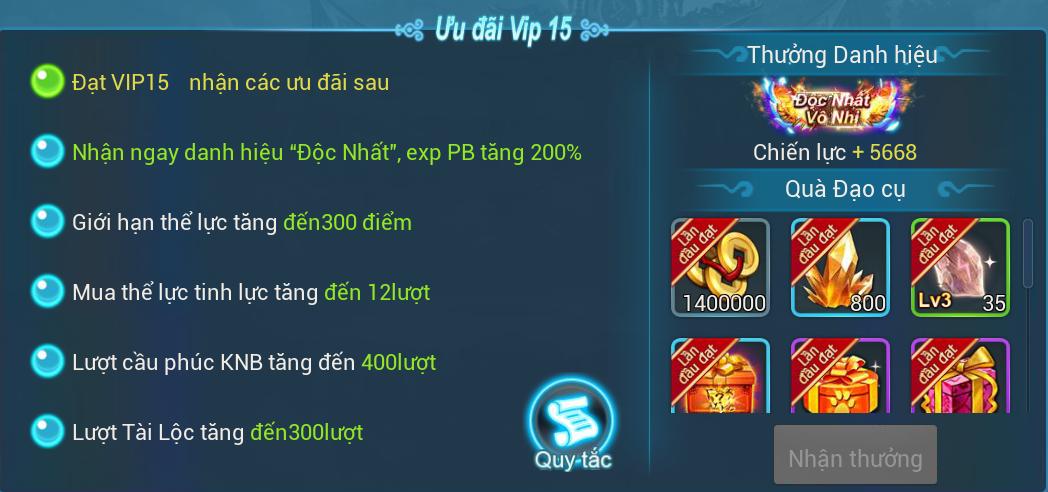 [Hướng Dẫn] Đặc quyền VIP trong game. - 15