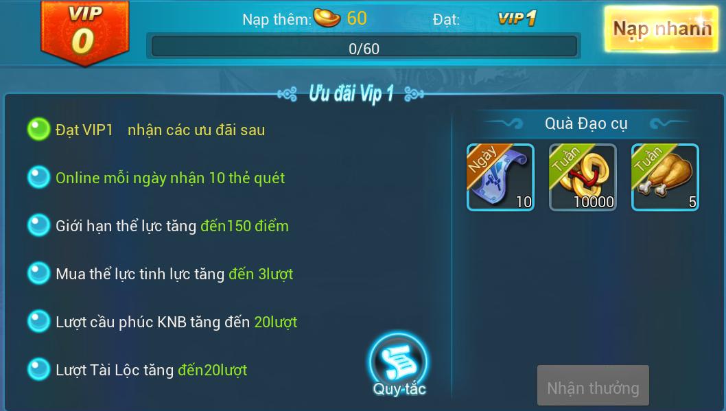 [Hướng Dẫn] Đặc quyền VIP trong game. - 1