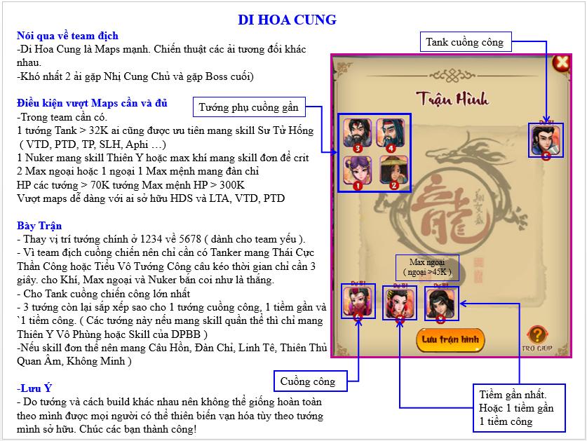 HƯỚNG DẪN VƯỢT MAP DI HOA CUNG - 1