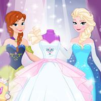 Game Anna Và Elsa Thiết Kế Áo Cưới