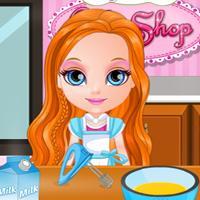 Game Baby Barbie Làm Bánh