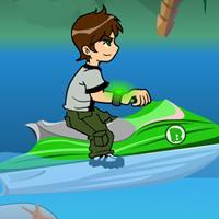 Game Ben 10 Lái Moto Nước
