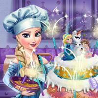 Game Elsa Làm Bánh Cưới