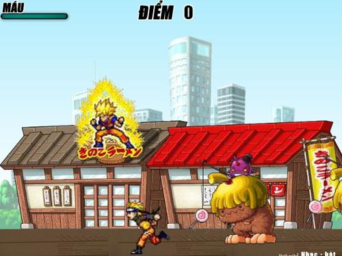 Game Naruto đối đầu Goku