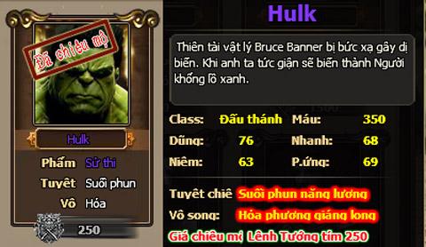 Game Sức Mạnh Của Hulk