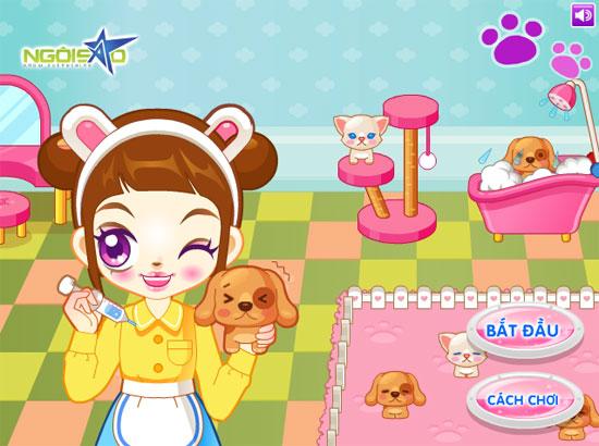 Game Chăm sóc thú cưng