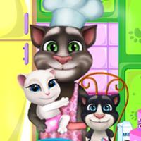 Game Mèo Tom Làm Bánh