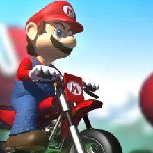 Game Mario lái xe vượt địa hình
