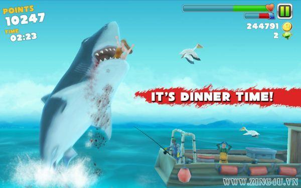 Game thoát khỏi hàm cá mập