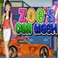Zoe đi rửa xe