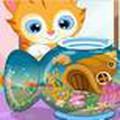 Hồ cá của mèo con