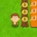 Khỉ con lăn đá