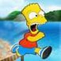 Bart ăn bánh donut