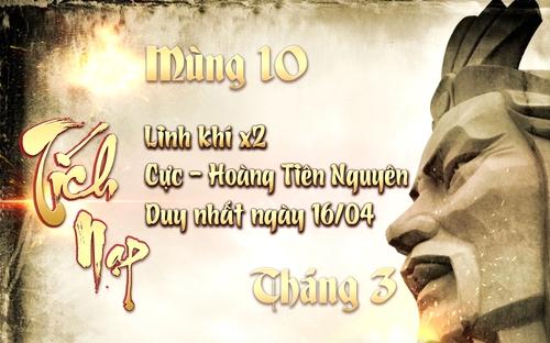 [Sự Kiện] - Tích nạp nhân ngày Giỗ Tổ Mùng 10 Tháng 3