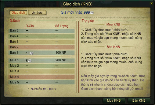 Giao dịch KNB