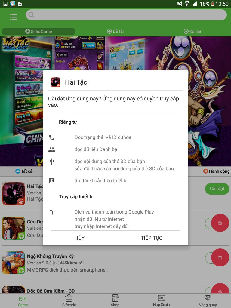 Tải và cài đặt game Hải Tặc Bóng Đêm từ App Sohagame cho máy Android - 4