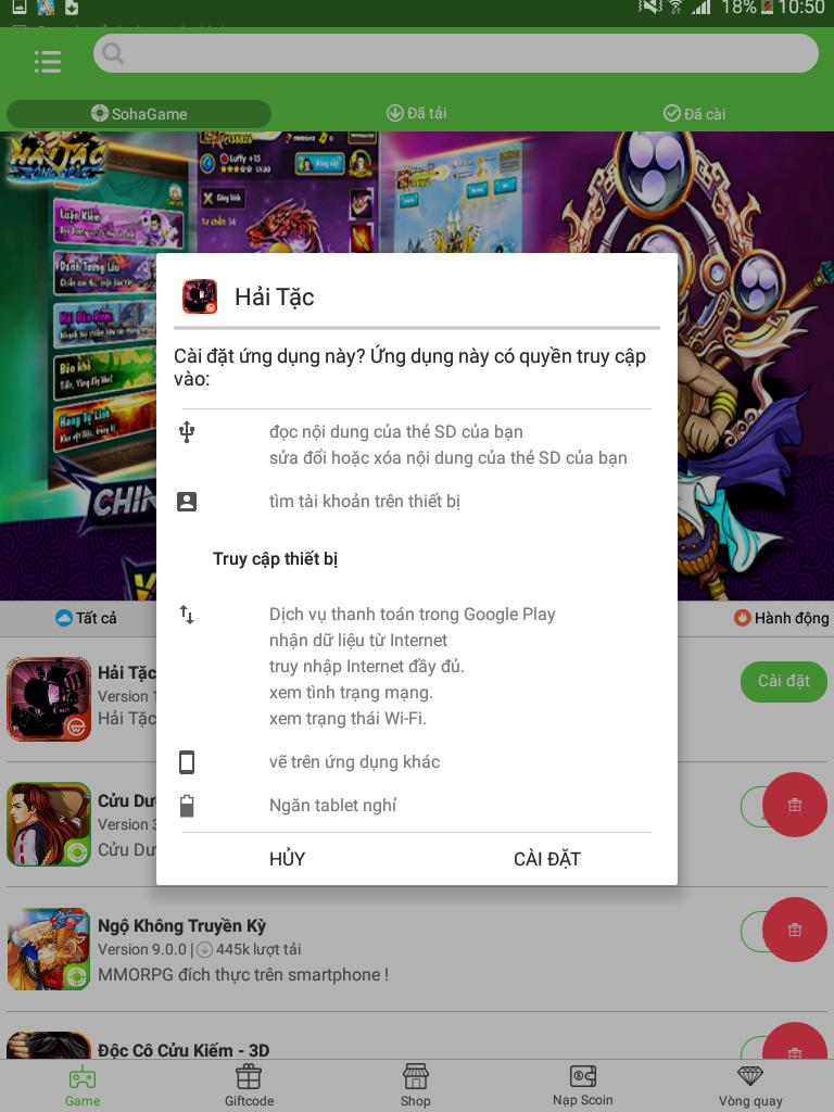 Tải và cài đặt game Hải Tặc Bóng Đêm từ App Sohagame cho máy Android - 3