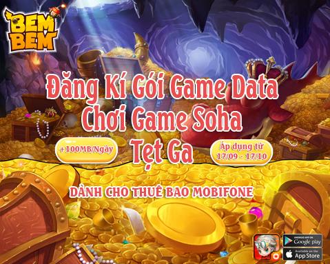 ƯU ĐÃI DÀNH RIÊNG CHO GAME THỦ SOHA - 1