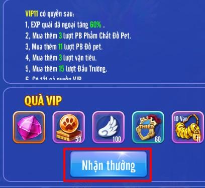 [Cấp VIP] - Đặc Quyền VIP trong Soái Ca Truyền Thuyết - 5