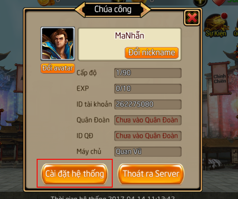 Hướng dẫn người chơi nhập Giftcode - 2