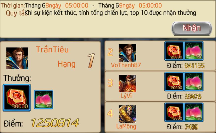 CHUỖI SỰ KIỆN : ĐUA TOP MÁY CHỦ MỚI - 3