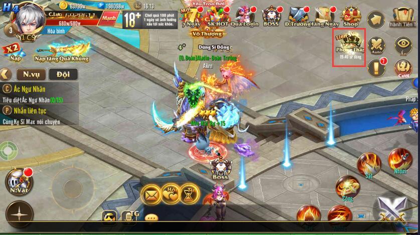 [Hoạt Động] Đỉnh Phong Tháp Liên Server trong Kỵ Sĩ Rồng - Dragon Knights - 1