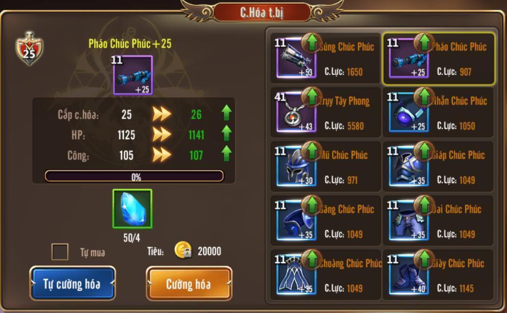 [Hướng dẫn] Tăng chiến lực trong Kỵ Sĩ Rồng - Dragon Knights - 3