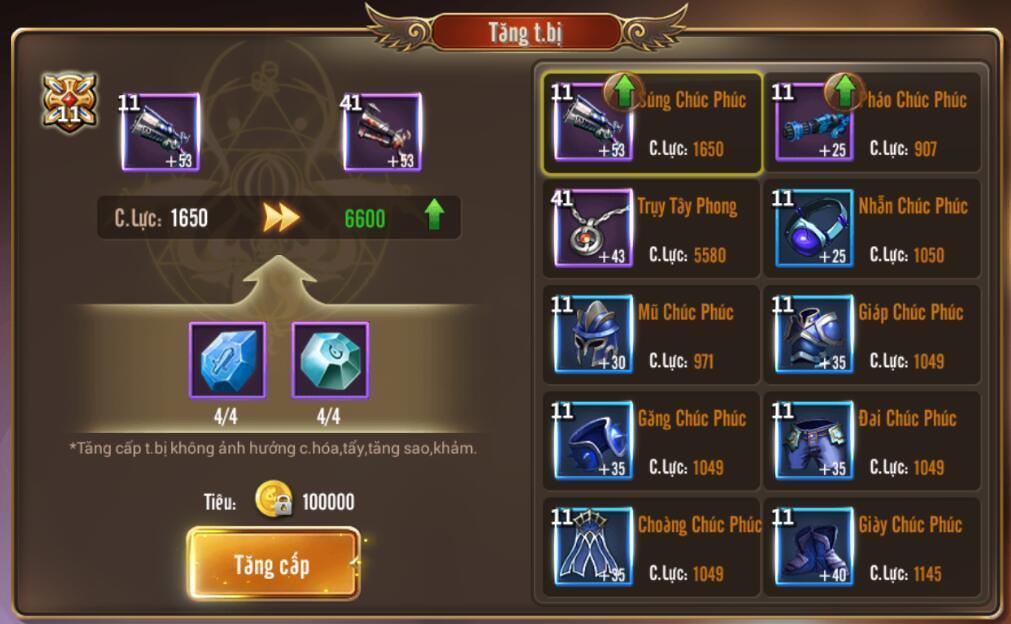 [Hướng dẫn] Tăng chiến lực trong Kỵ Sĩ Rồng - Dragon Knights - 4
