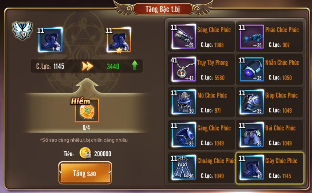 [Hướng dẫn] Tăng chiến lực trong Kỵ Sĩ Rồng - Dragon Knights - 6