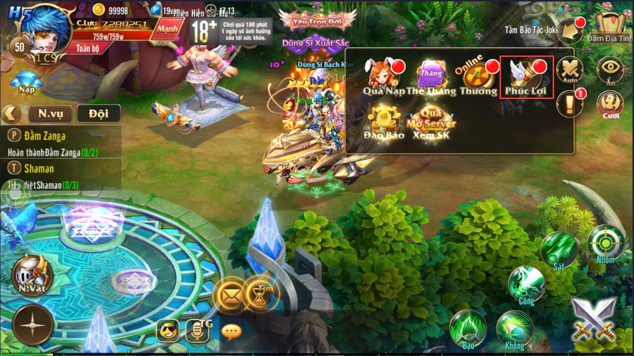 [Hướng Dẫn] Nhập Giftcode trong Kỵ Sĩ Rồng - Dragon Knights - 3