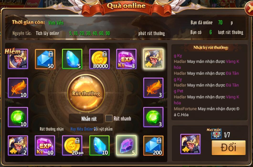 [Tân Thủ] Online nhận quà hàng ngày trong Kỵ Sĩ Rồng - Dragon Knights - 2