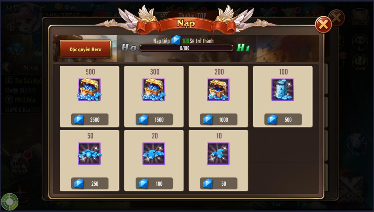 [Hướng Dẫn] Nạp Thẻ trong Game Kỵ Sĩ Rồng - 8