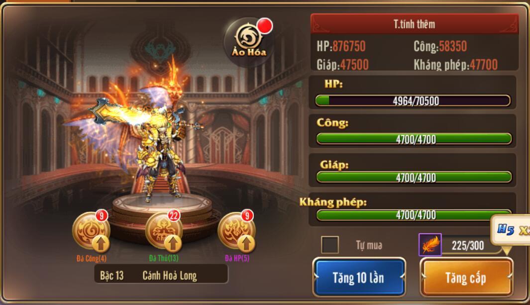 [Tính Năng] Cánh trong Kỵ Sĩ Rồng - Dragon Knights - 1