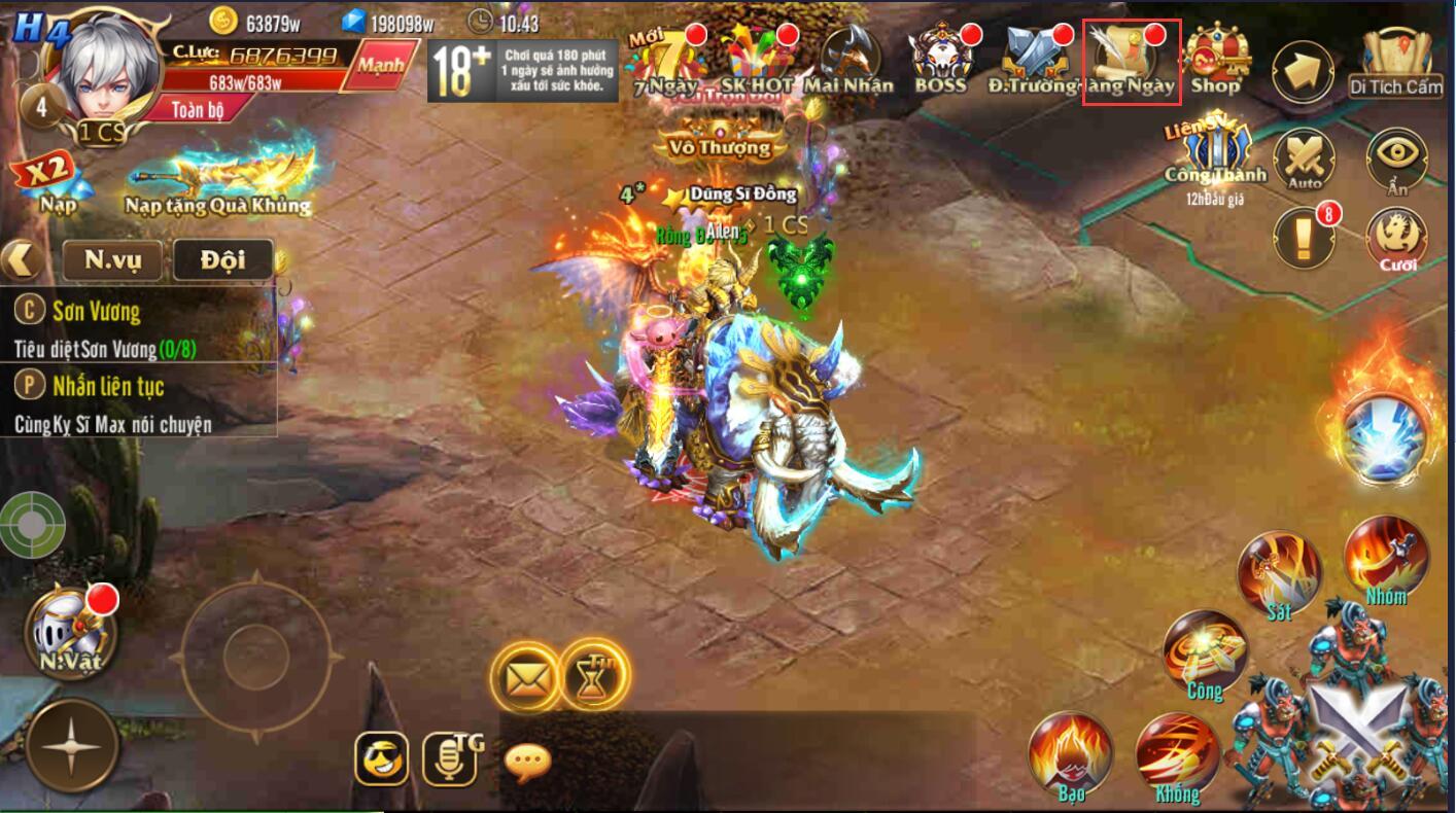 [Tính Năng] Jewel Liên Server trong Kỵ Sĩ Rồng - Dragon Knights - 1