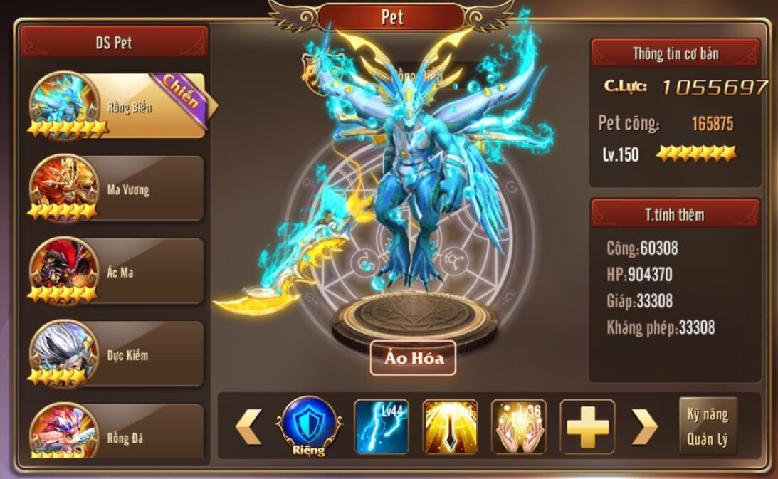 [Tính Năng] Pet trong Kỵ Sĩ Rồng - Dragon Knights - 9
