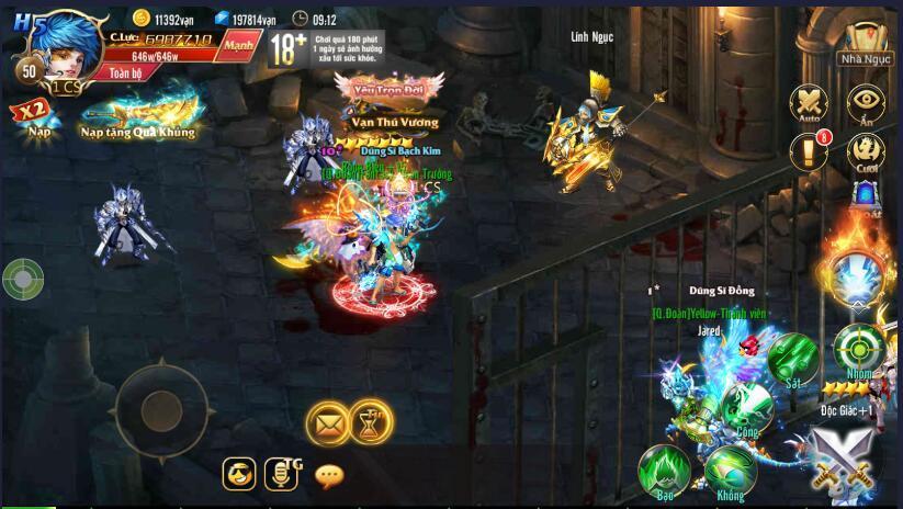 [Tính Năng] PK trong Kỵ Sĩ Rồng - Dragon Knights - 1