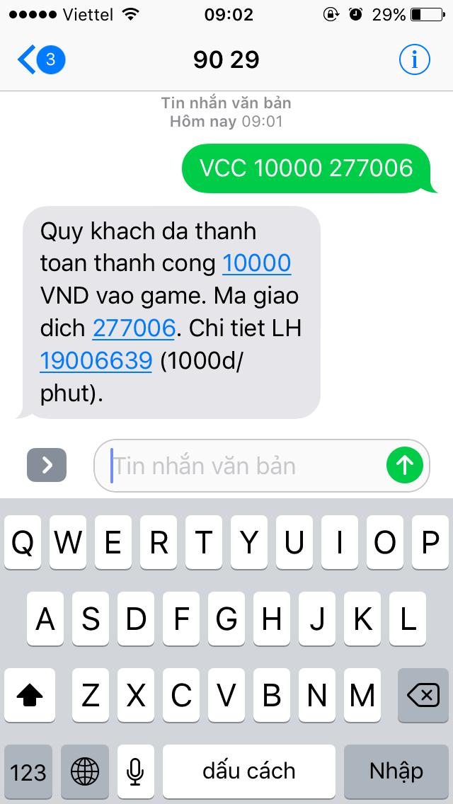 [Hướng Dẫn] Nạp Thẻ Qua SMS - 7