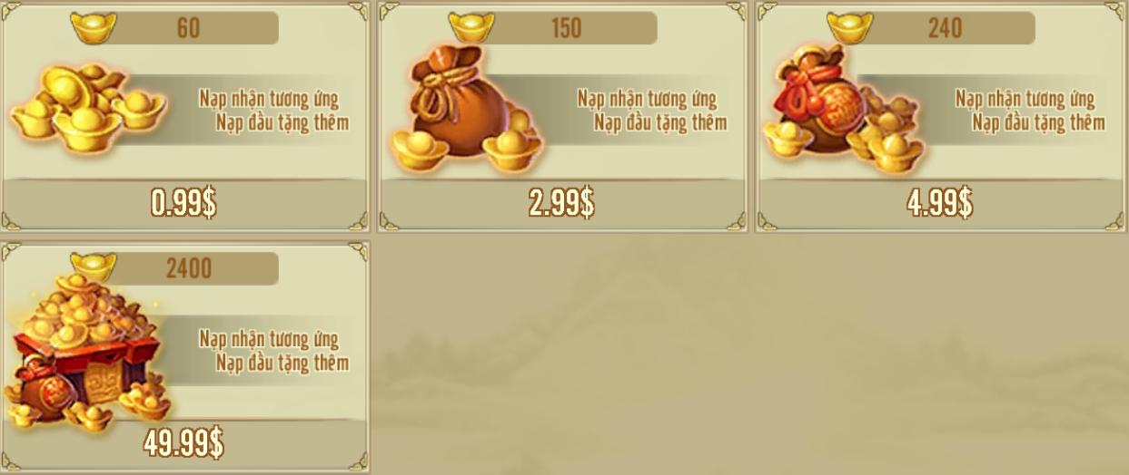 [Hướng Dẫn] Nạp In App vào Game - 1