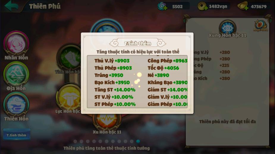 [Tính Năng] Thiên Phú - 4