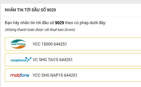 [Hướng Dẫn] Nạp Thẻ Qua SMS - 6