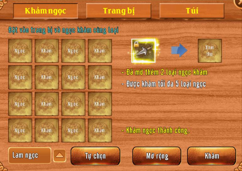 [Tính Năng] Khảm Ngọc Trong Làng Lá Phiêu Lưu Ký - 4