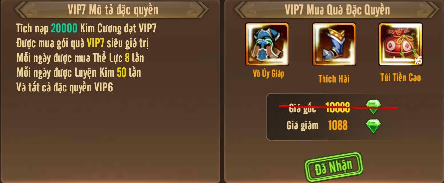 [Tính Năng] Cấp VIP - Phúc Lợi VIP - 11