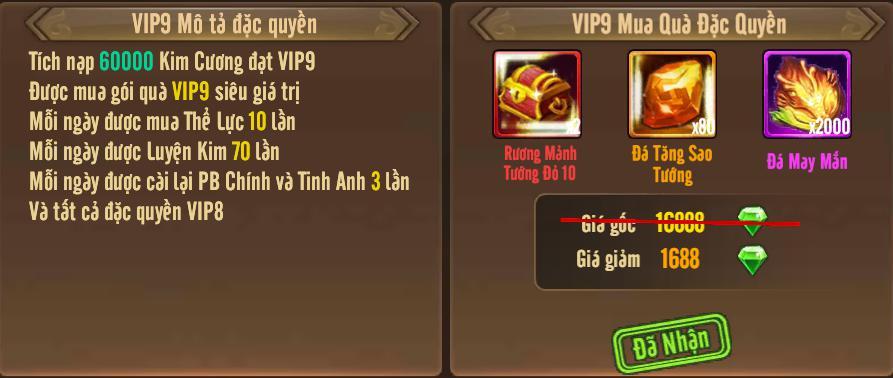 [Tính Năng] Cấp VIP - Phúc Lợi VIP - 13
