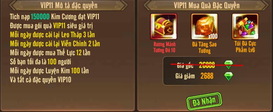 [Tính Năng] Cấp VIP - Phúc Lợi VIP - 15