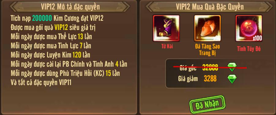 [Tính Năng] Cấp VIP - Phúc Lợi VIP - 16