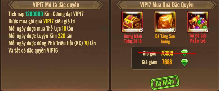 [Tính Năng] Cấp VIP - Phúc Lợi VIP - 21